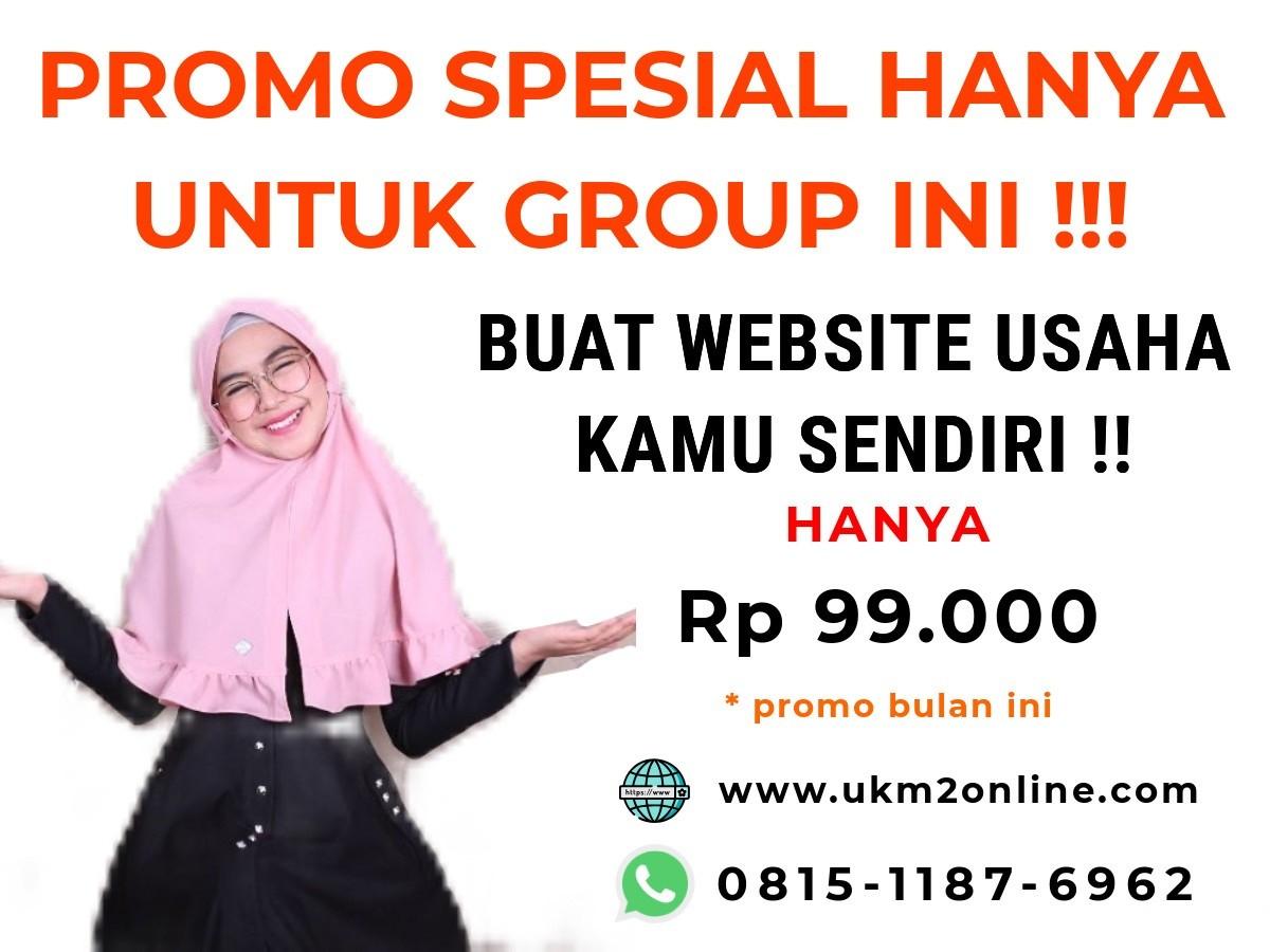 Jasa Website Khusus UKM termurah (hanya Rp 99 Ribu)